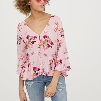 H&M Blouse with Flounces $24.99