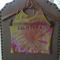 "Brandy Melville ""California"" Sunset Tie Dye Halter"