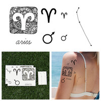 Aries - Temporary Tattoo (Set of 14)