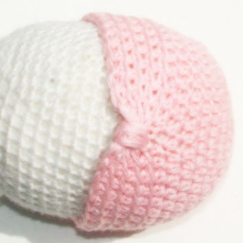 Light Pink Turban Style Baby Beanie Hats, for Newborn Girls, Ready to Ship Crochet with Love by GSSBEAUTY