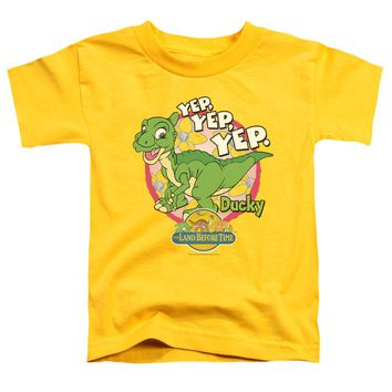 Land Before Time - Ducky Short Sleeve Toddler Tee Shirt Officially Licensed T-Shirt