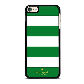 KATE SPADE GREEN STRIPE iPhone Case