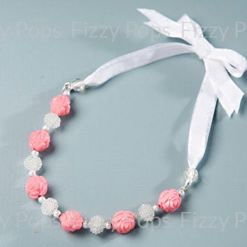 1 Chunky Necklace DIY Kit - Pinkberry Bow