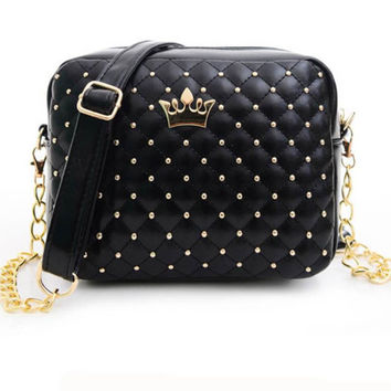 Excellent Quality 2016 Womens Bag Fashion Women Messenger Bags Rivet Chain Shoulder Bag High Quality PU Leather Crossbody SA027