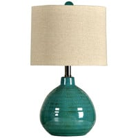 Turquoise Ceramic Accent Table Lamp   Overstock.com Shopping - The Best Deals on Table Lamps
