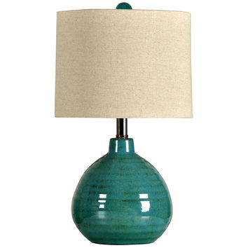 Turquoise Ceramic Accent Table Lamp | Overstock.com Shopping - The Best Deals on Table Lamps