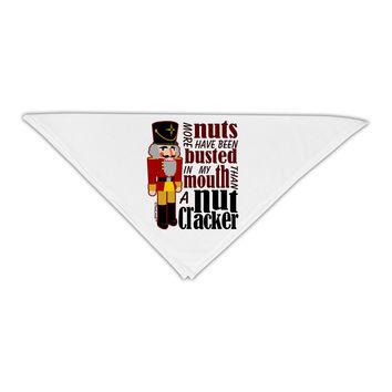 """More Nuts Busted - My Mouth Adult 19"""" Square Bandana by"""