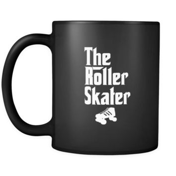Roller skating The Roller Skater 11oz Black Mug