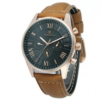 """""""THE ROMAN HIGHWAY""""   Leather Strap Luxury Automatic Custom Watch"""