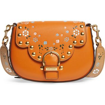 MARC JACOBS Studded Navigator Leather Crossbody Bag | Nordstrom