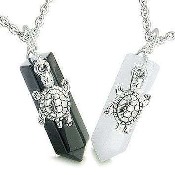 Amulets Positive Energy Love Couple or Best Friends Lucky Turtles Crystal Points