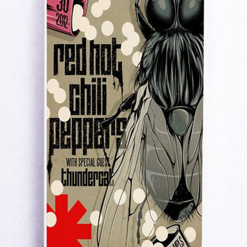 iPhone 5S Case - Rubber TPU Cover with red hot chili peppers Rubber Case Design
