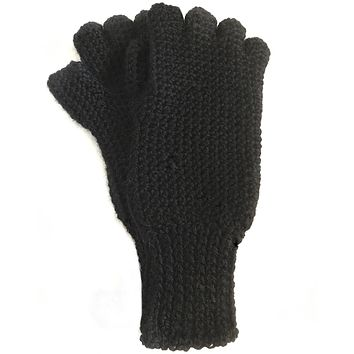 Fingerless Alpaca Gloves - Warm, Comfortable, Versatile - Men & Women