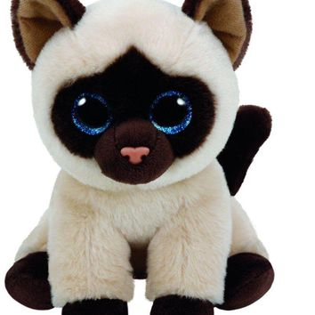 "Jaden The Siamese Cat 6"" Plush Ty Beanie Babies Toy Doll NEW"