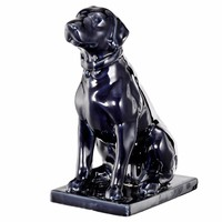 An Attentive Canine With Smooth Curves, Blue