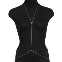Gold Dainty Simple Body Chain