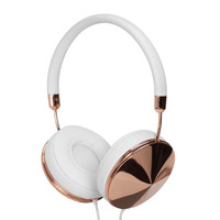 Frends Taylor Rose Gold White Taylor Headphones - Over Ear Headphones - ShopBAZAAR