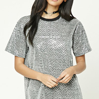 Sequined Forever Or Never Tee