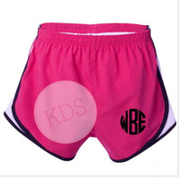 Athletic Shorts with Monogram Youth or Adult Sizes, Monogrammed Velocity Running Shorts, Personalized Running shorts
