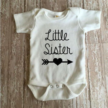 Little Sister Bodysuit |  Baby Sister Bodysuit | Personalized Bodysuit |  Baby Clothing