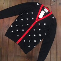 ONETOW GUCCI Bee V-collar Cardigan Sweater