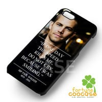 Paul Walker Fast and Furious Movie -Lsst for iPhone 6S case, iPhone 5s case, iPhone 6 case, iPhone 4S, Samsung S6 Edge