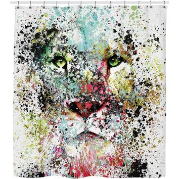 ROSC Lion -The King III Shower Curtain