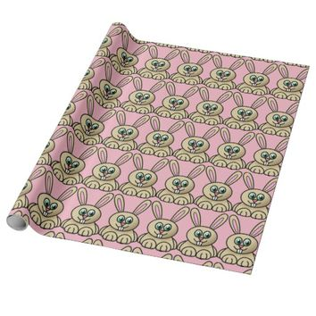 Pink, Easter Bunny. Wrapping paper. Wrapping Paper