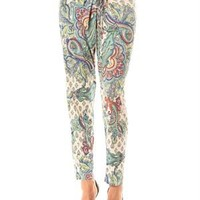 Pink Garden Multicolor Paisley Print Pants Made In France - Pink Garden Women's Apparel. Made in France - Modnique.com