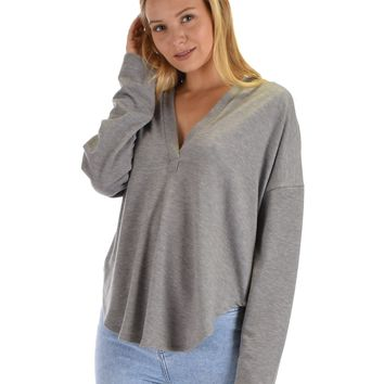 LL Work It Out V-neck Hoodie Long Sleeve Top