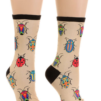 Apothecary Insects Beetle Socks in Sand