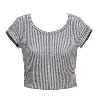 Grey Matter Crop Top