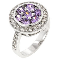 Amethyst Purple Lily Ring, size : 09