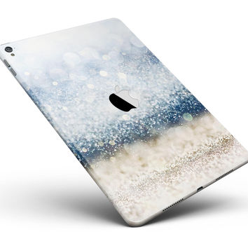"Unfocused Blue and Gold Sparkles Full Body Skin for the iPad Pro (12.9"" or 9.7"" available)"
