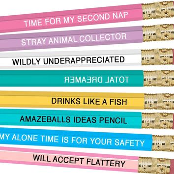 Pisces Zodiac Sign Pencils - Set of 8 Pisces Inspired Pencils!