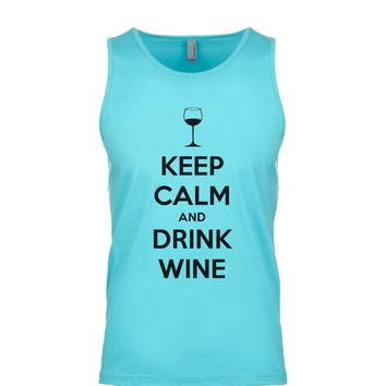 Keep Calm And Drink Wine Men's Tank