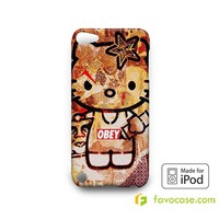 OBEY HELLO KITTY  iPod Touch 4 5 6 Case