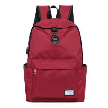 University College Backpack 2017 New Fashion Men And Women USB Charging  school Bag Zipper  Wind Laptop Notebook For Travel Tide PackageAT_63_4