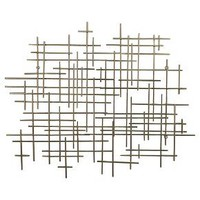 "Mid-Century Metal Wall Décor Gold 36x30"" - Threshold™ : Target"
