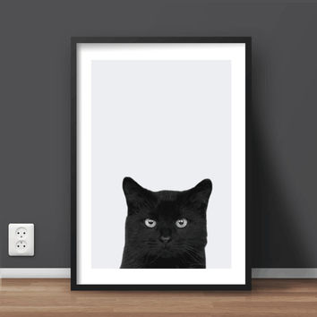 Animal Cat Printable Wall Art | Nursery Print | Minimalist Print | Large print