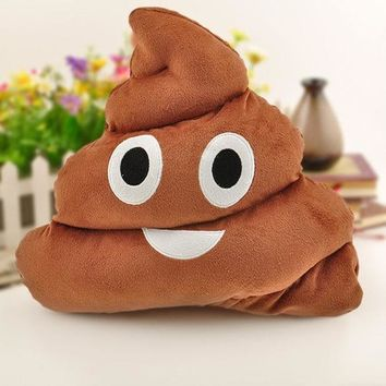 PEAPIX3 1Pc Cute Emoji Cushion Poo Shape Pillow Stuffed Doll Toys Kids Gifts (Size: 36cm by 33cm by 29cm, Color: Coffee) = 1946176836
