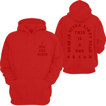 The Real Life of Pablo I Feel like Pablo Yeezy MSG Kanye West Pullover Hooded Sweatshirt