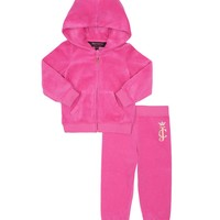Dragon Fruit Baby 2Pc Velour Jc Boho Cameo Tracksuit by Juicy Couture,