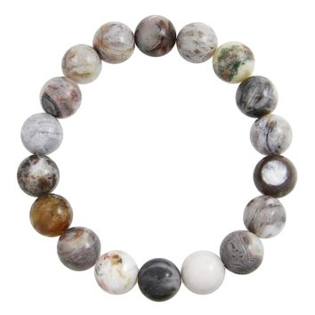 Courage, Balance and Protection- Gray Bamboo Agate