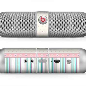 The Polka Dots with Green and Purple Stripes Skin for the Beats by Dre Pill Bluetooth Speaker
