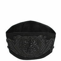 Amen Eco-leather high-waisted belt with embroidery