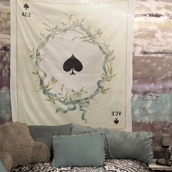 Ace of Spades Playing Card Tapestry