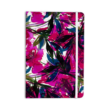 "Ebi Emporium ""Floral Fiesta Magenta Blue"" Watercolor Painting Everything Notebook"