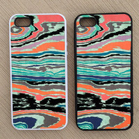 Cute Abstract Colorful Geometric Pattern iPhone Case, iPhone 5 Case, iPhone 4S Case, iPhone 4 Case - SKU: 202