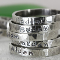 Personalized Stack Rings